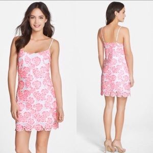 Lilly Pulitzer Beth Spaghetti Strap Lace Dress 0